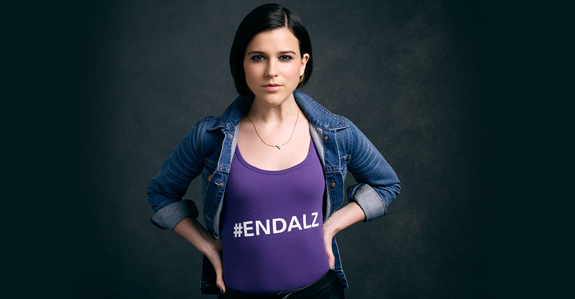 Alexandra Socha fights to #ENDALZ.