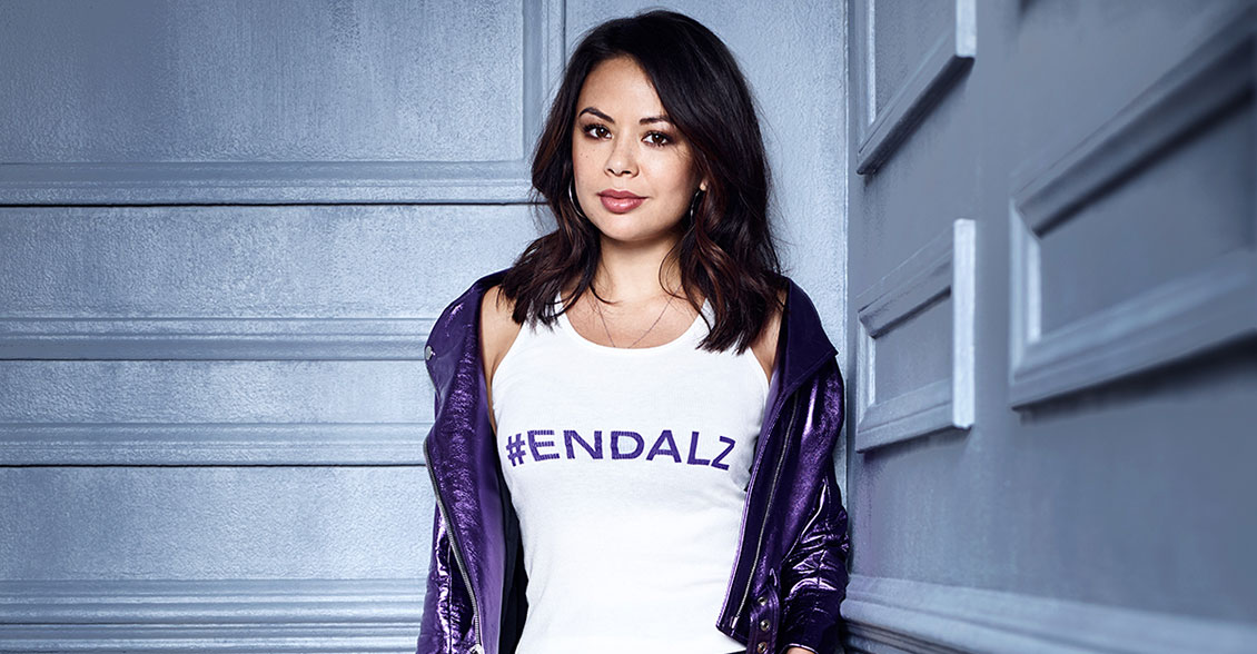 Janel Parrish fights to #ENDALZ.