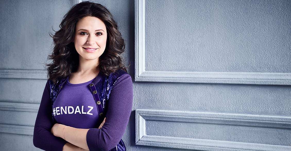 Scandal star Katie Lowes takes on the Alzheimer's crisis by going purple to #ENDALZ.