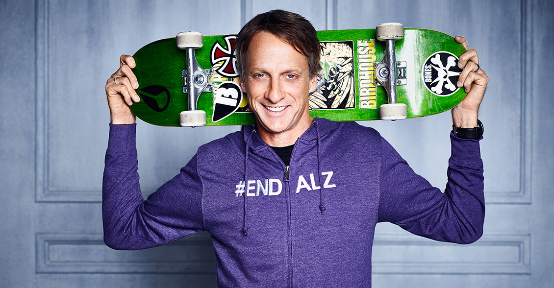 Join Tony Hawk in taking action to reach new heights in Alzheimer's awareness.